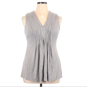 Audrey & Grace Pleated Front Sleeveless Top